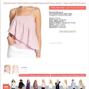 Abound Tops - 3 FOR $40 • Abound Pink Striped Asymmetrical Top